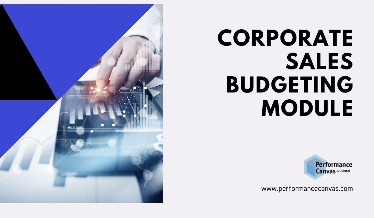 corporate sales budgeting module