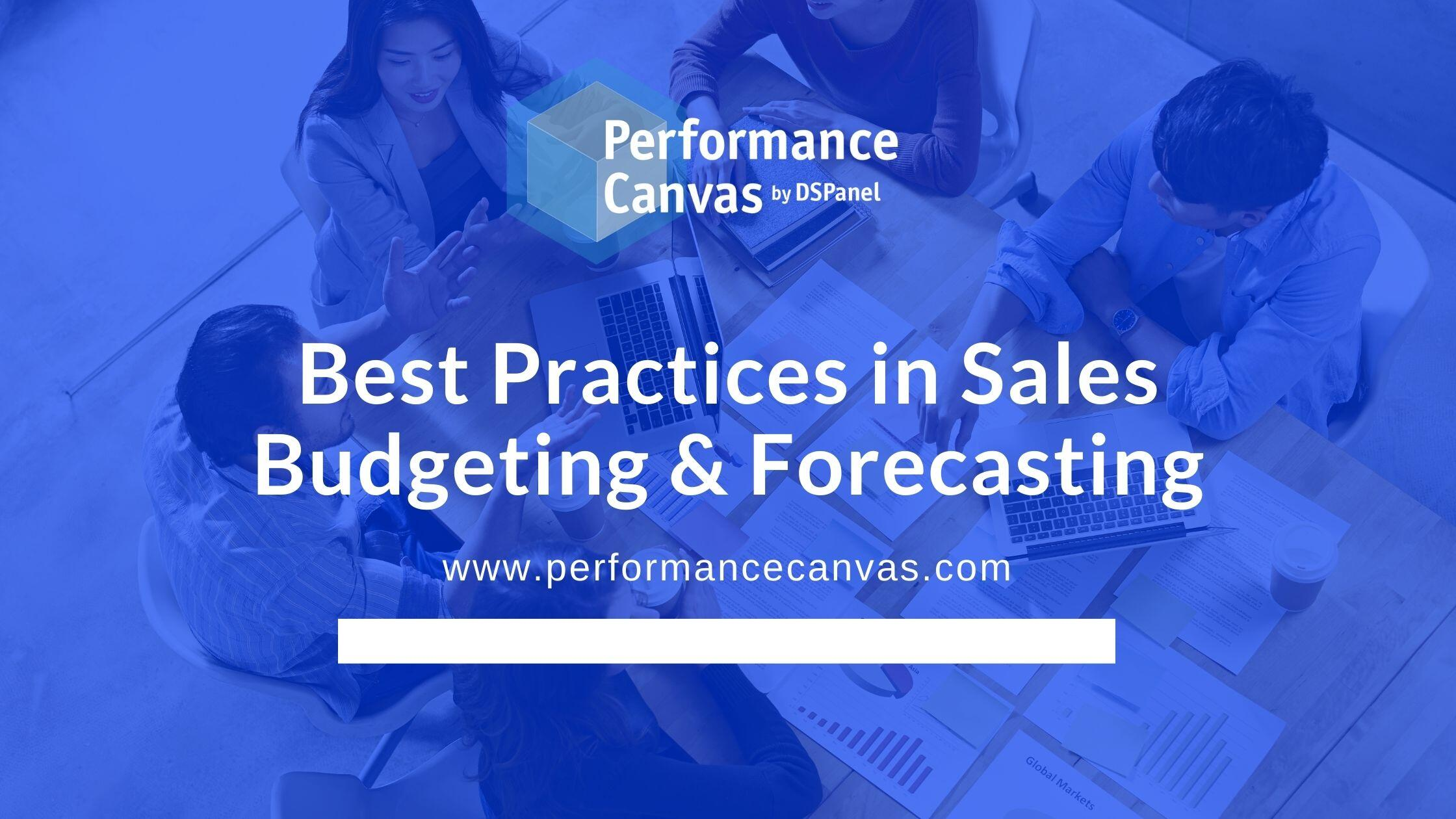 sales budgeting and forecasting