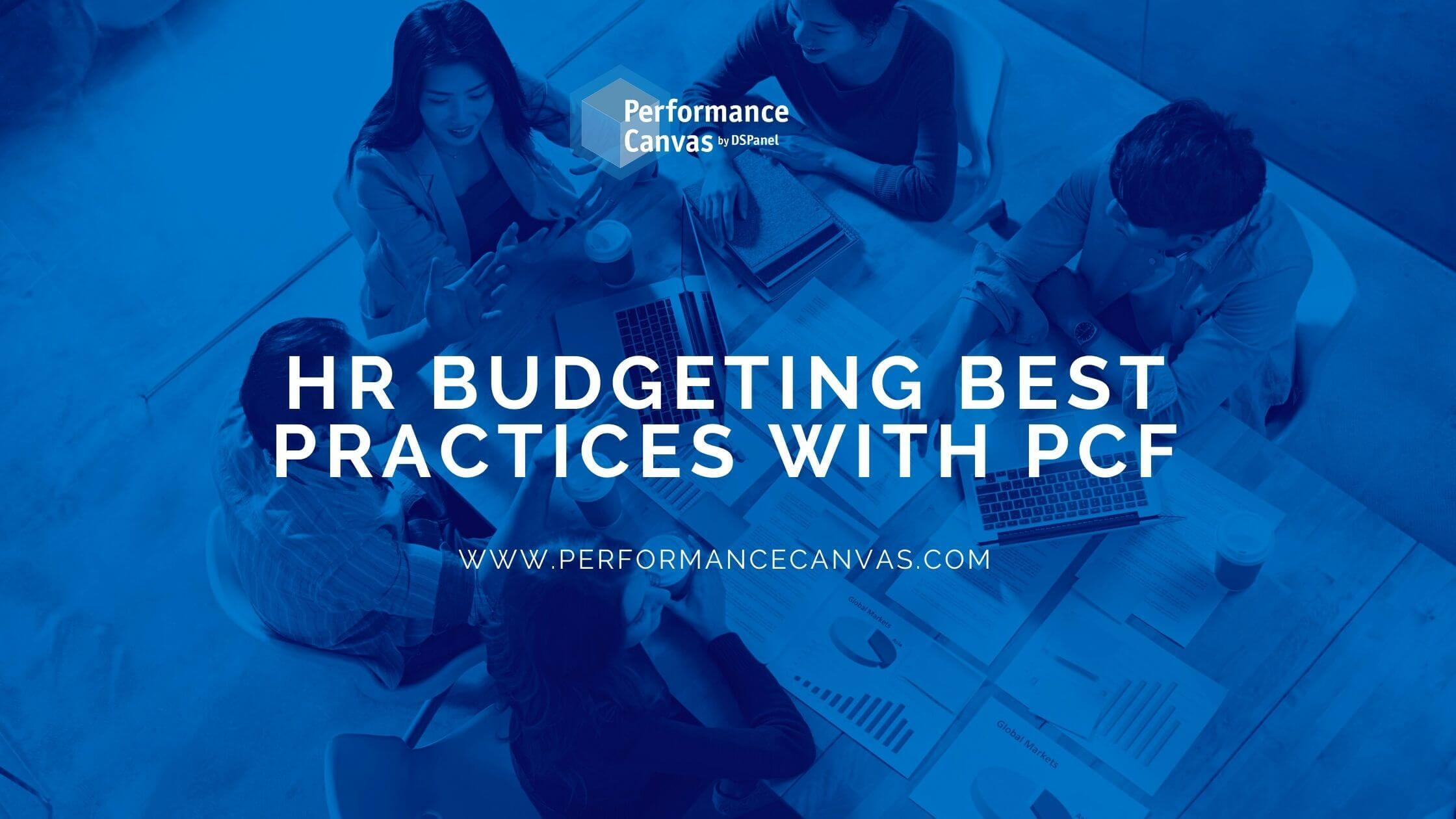 hr budgeting practices